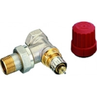 Клапан радиаторного терморегулятора угловой, никелированный, RTR-N 15 DANFOSS