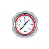 Осевой термометр Meibes для насосных групп (красный)