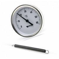 Термометр биметаллический F+R810 TCM (TSS), 63 мм, 0-60°c, Watts